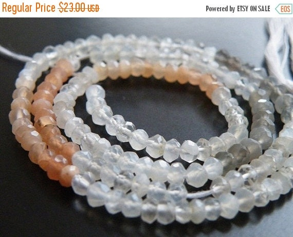 Love You 51% off Sale Moonstone Gemstone Rondelle AAA Multi Faceted 3.5mm Full Strand 120 beads