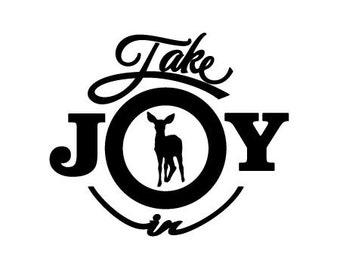 Take Joy In Fawn Deer Decal