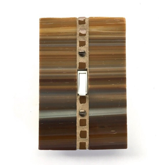 Decorative Wall Plate Switches : Decorative wall plate brown switch stained glass