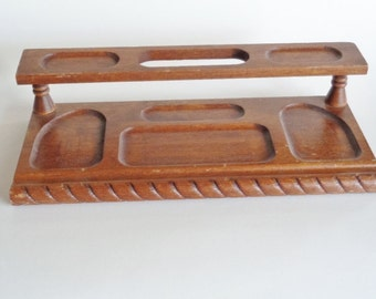 Dante Carpenter's Bench Genuine Mahogany Men's Dresser Top Valet