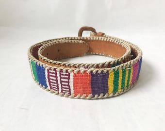 Vintage Guatemalan Hand Woven Belt