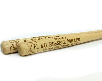 Mini Baseball Bat, Ring Bearer Gift, Groomsman Gift, Best Man Gift, Engraved Bat,Custom Bat,Personalized Bat,Father of Bride,Father of Groom