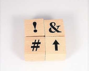 Mini  Rubber Stamp Set  - Symbol Set