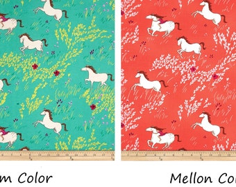 Wee Wander Summer Ride ~ 2 colors ~ Mellon or Seafoam, Michael Miller Quilt Cotton Fabric, Out of Print
