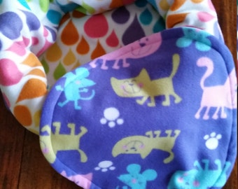 Snooze Sack for Cats - Raindrops and Cats