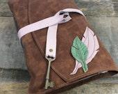Mixed Media Feather Journal / leather journal / sketchbook / artist book / art journaling