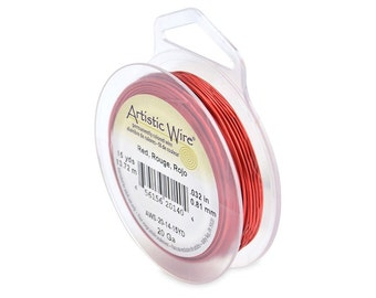 Artistic Wire 20 Gauge Red 41288 Red Round Wire, Jewelry Wire, Craft Wire, Red Copper Wire, Wire Wrapping, 20ga Soft Temper Wire