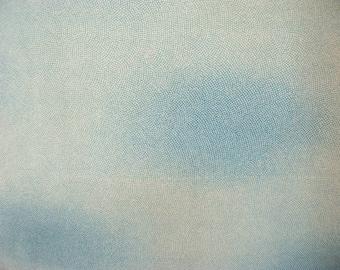 Vintage haori S454,  blue green silk