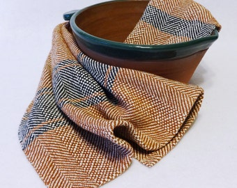Handwoven Cotton/Linen Towel for Kitchen & Bath - Handtowel, Kitchen Towel, Handwoven Towel, Tea Towel, Breadcloth, Rust Towel (#16-28)