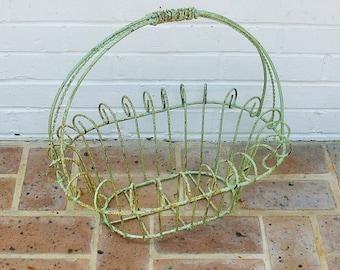 Antique Vintage Metal Basket Antique Vintage Flower Basket With Metal Handles