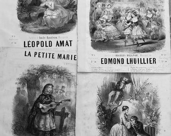 Antique French sheet music