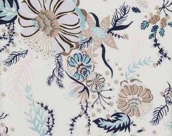 Liberty Tana Lawn Fabric Aquatic Bloom YARDAGE NEW DESIGN 2017 Liberty tissu