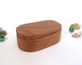 California Redwood Box, engagement ring box, ring bearer box, proposal box, earring box, eco gift box, guitar pick box, wood art