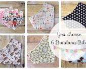 Baby Gift Set - Baby Bib Set - You Choose - Baby Shower Gift - Baby - Bandana Bib - Bibdana - Drooling Bib