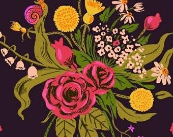 Heather Ross - Sleeping Porch - Sleeping Wild Flowers Plum 42205 2 Windham Fabrics - Sold by the Half Yard