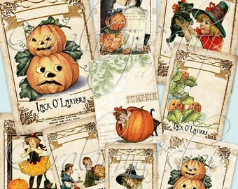 SALE PUMPKIN Collage Digital Images -printable download file-