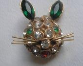 Vintage Sterling Celtic Claddagh Knot bracelet Gimmel Hands Heart Crown