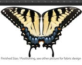 Child Size Eastern Tiger Swallowtail Butterfly Wing Fabric, Smaller Scale, Fairy Wings