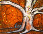 RESERVED for PrimitivelyPrecious, Hollow Tree, 2, ACEO Print