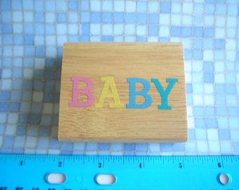 Rubber Stamp - BABY- One Dollar Stamp NEW