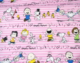 Peanuts Worldwide LLC Licensed fabric Snoopy print Japanese fabric half meter