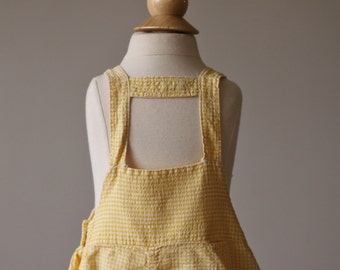 1940s Rompovers Fish Overalls >>> Size 12 Months