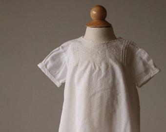 SPRING SALE 1940s Heirloom Batiste Cotton Dress~Size 6 Months