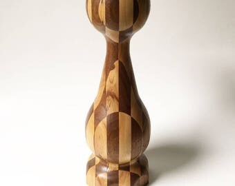 Giant chess Piece Pawn chess piece checkerboard Wooden Decorative statue