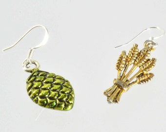 Metal Hop Earrings 4 - Beer Diva Beer Jewelry - Hop Jewelry -  Beer Gear - Hop Head Accessories