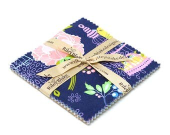 "Lulabelle ~ 5"" Stacker Charm Pack ~ Riley Blake Designs ~ Precut Quilting Squares"