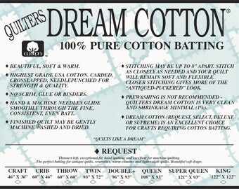 Quilters Dream Batting Twin 4 Pack~Cotton and Poly Batting for quilting