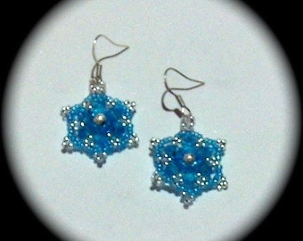 Spring Bling in Awesome Aqua Crystals   Medallion style Earrings native boho southwestern ethnic tribal spring holiday valentine