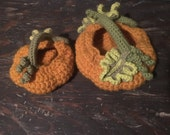 Wool Crocheted Pumpkin Baskets