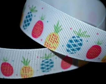 Pineapple Ribbon, Fruit Ribbon, Southern Ribbon, Summer Ribbon, Picnic Ribbon, Food Ribbon, Pineapple Print Trim, Tropical Ribbon