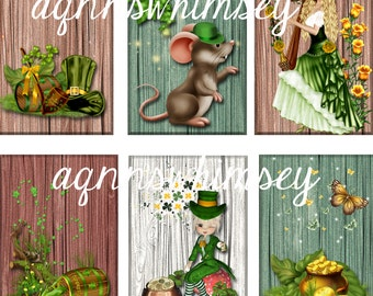 DOWNLOADABLE Saint Patrick's Day  Tags for Scrapbooking, Collage, Gift Tags