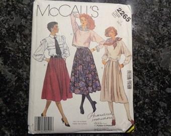 Vintage McCall's 2265 misses' skirt pattern