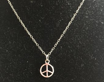 PEACE a Sterling Necklace