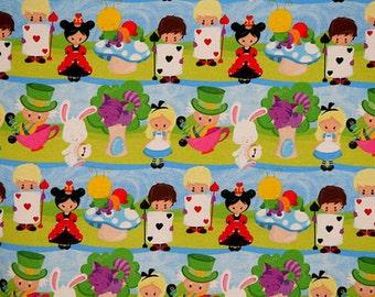 Alice in Wonderland euro import knit 1/2 yard