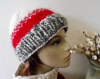 Women's Hand Knit Warm Winter Hat Outdoor Ski Snow Hat