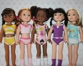 Modern Undergarments for Wellie Wishers- PDF Sewing Pattern- 14 inch dolls