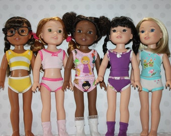 Modern Undergarments for Wellie Wishers- PDF Sewing Pattern- 14 inch dolls
