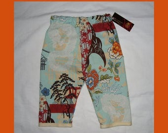 On SALE 60% OFF Pagoda - Dragon -  Japanese Baby Clothing - Cherry Blossom - Baby Pants - Girls Pants - Boys Pants - Conscious Children's -