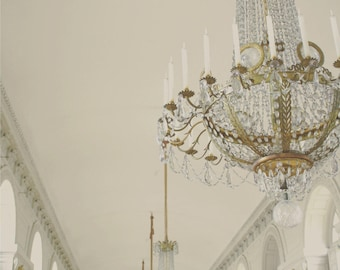 White Chandeliers of Versailles fineart photography perfect for your chateau