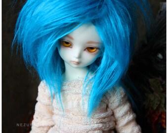 Teal Fur Wig for BJD Soom TG Teenie Gem and LTF Little Fee