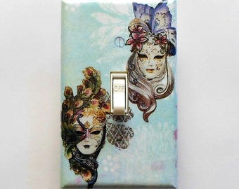 Mask & Butterfly switch plates w/ MATCHING SCREWS- Butterfly decorations butterfly switch covers butterfly light switch cover plates masks