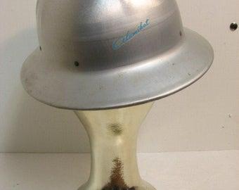 Vintage Aluminum Hard Hat Jackson SH-5 Alumihat Still has Decal & Paper Inserts Alomost Like New Construction Helmet Hardhat