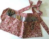 Linen Apron - Cafe - Vendor - Cook - Teacher - Gardening - Half Apron