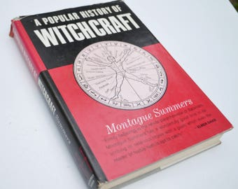 "Vintage ""A Popular History of Witchcraft"" Hardback Book by Montague Summers"