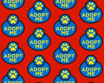Dog Adoption Fabric - Adopt Me By Brainsarepretty - Rescue Dogs Pet Adoption Cotton Fabric By The Yard With Spoonflower