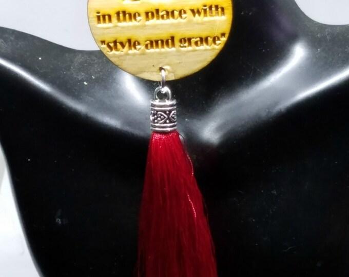 Featured listing image: African Inspired Tassel Earrings I AM A LADY , Tassel Earrings , Glass Bead, Nubian Sensations